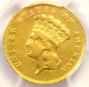 1866 THREE DOLLAR INDIAN GOLD COIN $3   CERTIFIED PCGS XF DETAILS    DATE