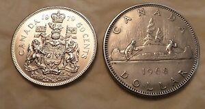 CIRCULATED  1968    NICKEL    DOLLAR   AND 1979 50 CENT
