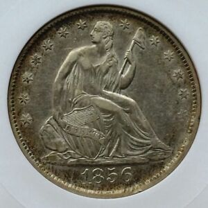 1856 HALF DOLLAR ANACS EF45 BEAUTIFUL SURFACES GREAT COIN