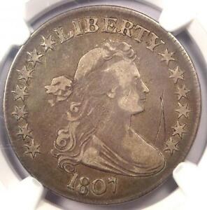 1807 DRAPED BUST HALF DOLLAR 50C O 105   NGC VF DETAILS    CERTIFIED COIN