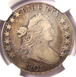 1805 DRAPED BUST HALF DOLLAR 50C   NGC VF DETAILS    CERTIFIED COIN