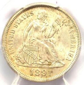 1891 SEATED LIBERTY DIME 10C   CERTIFIED PCGS MS63  BU UNC     COIN