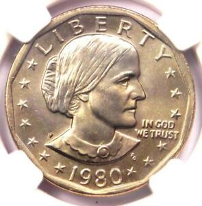 1980 P SUSAN B. ANTHONY SBA DOLLAR $1 COIN   CERTIFIED NGC MS68   $2 750 VALUE