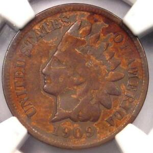 1909 S INDIAN CENT 1C   NGC FINE DETAILS    KEY DATE   CERTIFIED PENNY