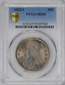 Click now to see the BUY IT NOW Price! 1822/1 CAPPED BUST 50C PCGS MS 65