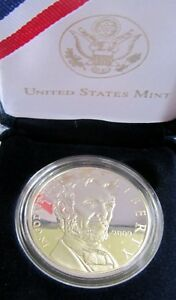 2009 ABRAHAM LINCOLN PROOF COMMEMORATIVE SILVER DOLLAR U.S. MINT PACKAGING & COA