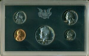 1971 S UNITED STATES MINT PROOF SET   IN ORIGINAL BOX   FIVE PIECE COIN SET