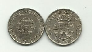 10 ESCUDOS FROM ANGOLA   KM 79   1969   COPPER NICKEL CIRCULATED  WHOLESALE