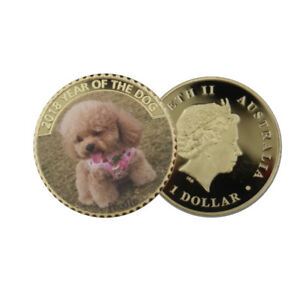 CUTE ANIMAL METAL COIN HOME DECORATIVE 24K GOLD COIN FOR COLLECTION ARTCRAFTS