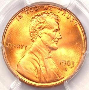 1983 D LINCOLN MEMORIAL CENT 1C PENNY   CERTIFIED PCGS MS68 RD   $425 VALUE