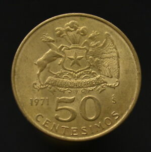 COIN CHILE 50 CENTSIMOS 1971. 21.9MM KM196