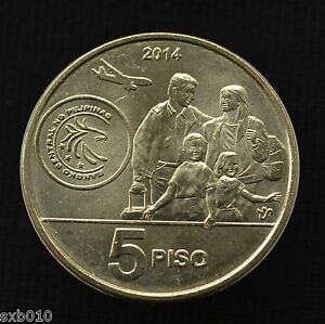 2014 PHILIPPINES 5 PISO BAGONG BAYANI NEW HERO COIN UNCIRCULATE UNC