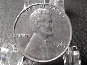 1943 LINCOLN WHEAT PENNY; ONE CENT;