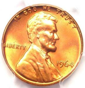 1964 LINCOLN MEMORIAL CENT PENNY 1C   PCGS MS66  RD PLUS GRADE   NEAR MS67