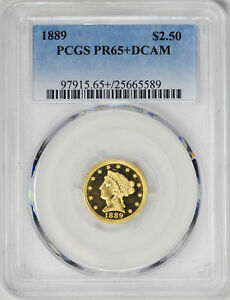 Click now to see the BUY IT NOW Price! 1889 LIBERTY HEAD $2.5 PCGS PR 65  DCAM