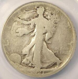 1921 D WALKING LIBERTY HALF DOLLAR 50C   ANACS G4 DETAILS    CERTIFIED COIN