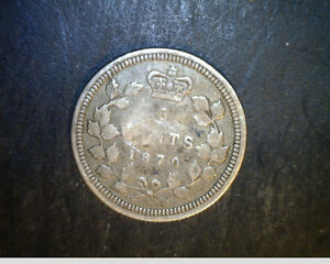 1870 CANADA 5 CENTS .0346  OZ SILVER  CAN 442