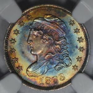 Click now to see the BUY IT NOW Price! 1833 H10 NGC MS67  STAR  BEAUTIFUL COLOR