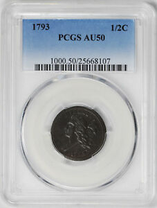 Click now to see the BUY IT NOW Price! 1793 LIBERTY CAP 1/2 PCGS AU 50
