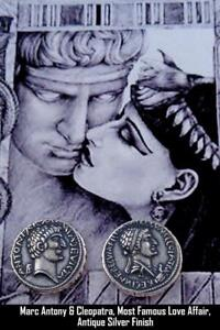 MARK ANTONY & CLEOPATRA ROMAN COIN ROMAN EMPIRE MOST FAMOUS ROMANCE  3 S