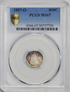 Click now to see the BUY IT NOW Price! 1857 O LIBERTY SEATED H10C PCGS MS 67