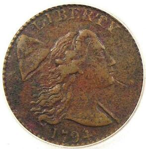 1794 LIBERTY CAP LARGE CENT 1C S 41 R3   CERTIFIED ICG VF30   $3 000 VALUE