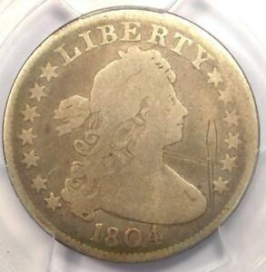 1804 DRAPED BUST QUARTER 25C   PCGS VG DETAILS    KEY DATE CERTIFIED COIN