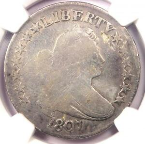 1807 DRAPED BUST HALF DOLLAR 50C   NGC VG DETAILS    CERTIFIED COIN
