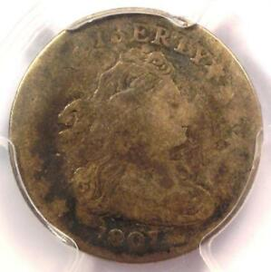 1807 DRAPED BUST DIME 10C   CERTIFIED PCGS VG DETAILS    COIN
