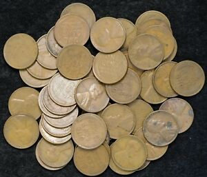 1931  P  ROLL OF LINCOLN WHEAT PENNIES  NO CULLS