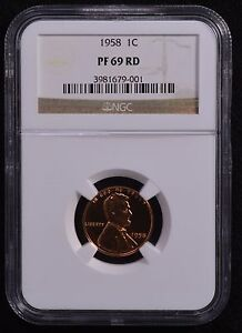 1958 WHEAT PENNY NGC PF69 RD  HARD TO FIND