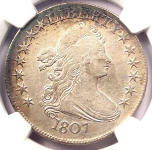 1807 DRAPED BUST HALF DOLLAR 50C COIN   CERTIFIED NGC XF DETAIL    DATE