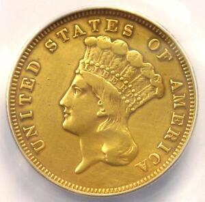 1860 S THREE DOLLAR INDIAN GOLD COIN $3   ANACS VF30 DETAILS    DATE
