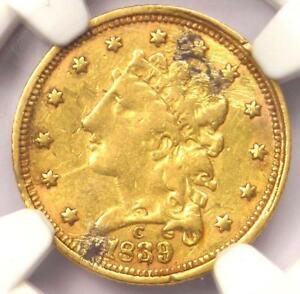 1839 C CLASSIC GOLD QUARTER EAGLE $2.50   NGC XF DETAILS   CHARLOTTE COIN