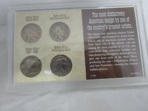 THE HISTORIC BUFFALO NICKEL MINT MARK COLLECTION 4 COIN SET IN CASE