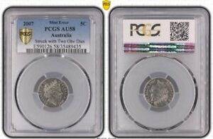 Click now to see the BUY IT NOW Price! PCGS GRADED AU58 2007 DOUBLE OBVERSE 5C COIN ERROR DOUBLE HEAD FIVE CENT 5