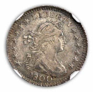 Click now to see the BUY IT NOW Price! 1800 DRAPED BUST LG EAGLE HALF DIME H10C NGC MS65