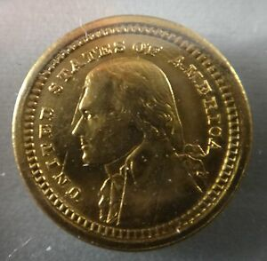 1903 $1 JEFFERSON  LOUISIANA PURCHASE GOLD COMMEMORATIVE COIN BU