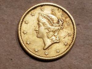 1853 TYPE I GOLD 1 DOLLAR COIN LIBERTY HEAD $1 G$1 T1 COIN NICE