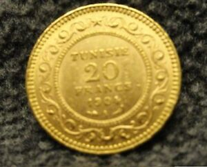 Click now to see the BUY IT NOW Price! 1904 A TUNISIA 20 FRANCS GOLD COIN FRENCH COLONIAL TUNISIE UNCIRCULATED