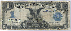 Click now to see the BUY IT NOW Price! 1899 $1 BLACK EAGLE SILVER CERTIFICATE LARGE SIZE NOTE BILL LYONS ROBERTS