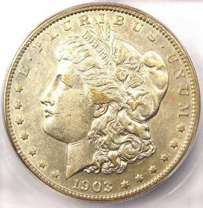 1903 S MORGAN SILVER DOLLAR $1   ICG AU53    DATE IN AU53   $2 070 VALUE
