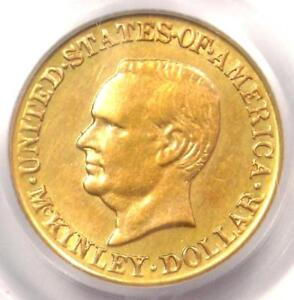 1917 MCKINLEY COMMEMORATIVE GOLD DOLLAR COIN G$1   CERTIFIED PCGS MS60  UNC