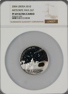 Click now to see the BUY IT NOW Price! 10$   LIBERIA 2004   METEORITE NWA 267   NGC PF69