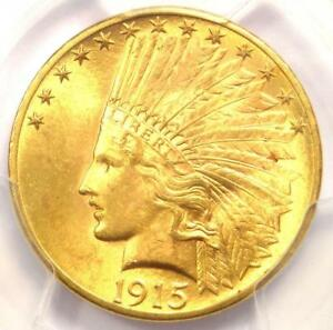 1915 INDIAN GOLD EAGLE  $10 COIN    PCGS MS64  CHOICE BU    $2 350 VALUE