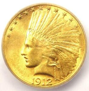 1912 S INDIAN GOLD EAGLE $10 COIN   CERTIFIED ICG MS62  UNC BU    $2 560 VALUE