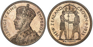 Click now to see the BUY IT NOW Price! NEW ZEALAND GEORGE V 1935 AR CROWN PCGS PR64 TREATY OF WAITANGI LOVELY SURFACES