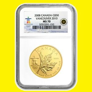 Click now to see the BUY IT NOW Price! 2008 CANADA MAPLE LEAF 1 OZ GOLD 9999 NGC MS 70  LOW POP LOW MINT