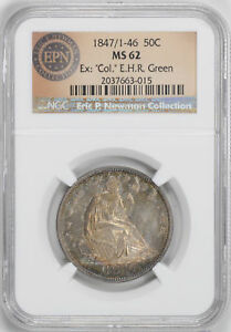 Click now to see the BUY IT NOW Price! 1847/6 LIBERTY SEATED 50C NGC MS 62