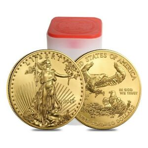 Click now to see the BUY IT NOW Price! ROLL OF 20   2019 1 OZ GOLD AMERICAN EAGLE $50 COIN BU  LOT TUBE OF 20